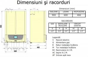 Poza Centrala termica in condensatie Immergas Victrix Zeus Superior 26 2 ERP - dimensiuni si racorduri