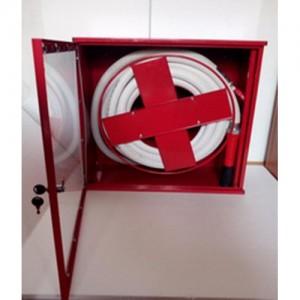 Poza Cutie hidrant AURA AR 33 cu usa cu sticla - rosie - complet echipata
