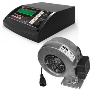 Poza Kit controler cazan combinat pentru pompe si ventilator TECH EU-28+WPa117