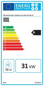Poza Clasa energetica Centrala termica in condensatie ARISTON CLAS ONE SYSTEM 35