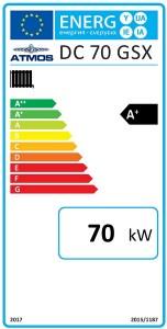 Poza Clasa energetica Centrala termica pe lemne cu gazeificare ATMOS DC70GSX
