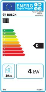 Poza Clasa energetica Centrala termica electrica Bosch Tronic Heat 3500 4 - 4 kW