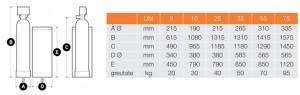 Poza Dimensiuni Statie de dedurizare duo-bloc FERROLI ED WS1/x EV