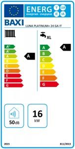 Poza Clasa energetica Centrala termica in condensare Baxi Luna Platinum+ 24 GA Combi
