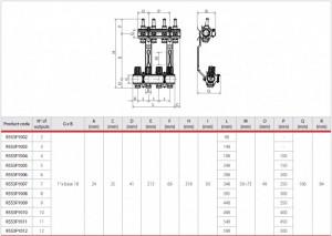 Poza Schema Distribuitor-Colector cu Debitmetre Giacomini R553F