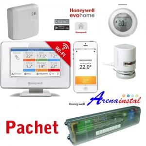 Poza Pachet WiFi Honeywell EvoHOME cu 5 zone si 5 circuite