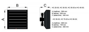 Poza Dimensiuni aeroterme cu agent termic Reventon HC 45-3S