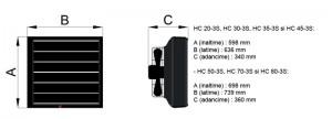 Poza Dimensiuni aeroterme cu agent termic Reventon HCxx-3S