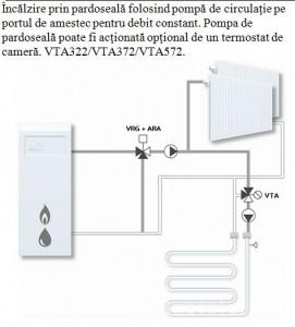 Poza montaj Ventil termostatic de amestec pt pardoseala VTA 572 1 1/4