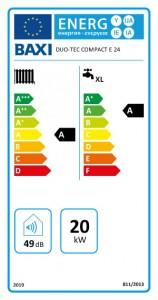 Poza Centrala termica BAXI DUO-TEC COMPACT E 24 - clasa energetica
