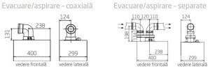 Poza Centrala termica BAXI DUO-TEC COMPACT E - kit evacuare