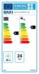 Poza Centrala termica BAXI DUO-TEC COMPACT E 28 - clasa energetica