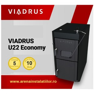 Poza Centrala termica pe lemne din fonta cu gazeificare Viadrus U22 Economy 30 kW
