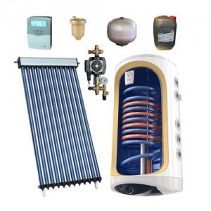 Poza Pachet solar 12 tuburi vidate HEAT PIPE PANOSOL C180 si boiler monovalent 120 L