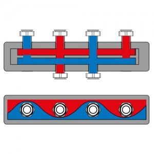 Poza 1 Distribuitor-colector termoizolat pentru 2 grupuri de circulatie ESBE GMA 421