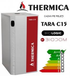 Poza Centrala termica pe peleti compacta THERMICA Tara C15 - 17.5 kw