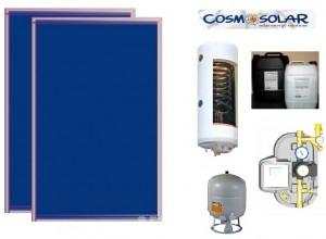 poza Pachet panouri solare Cosmosolar si boiler cu 1 serpentina pentru 3-4 persoane