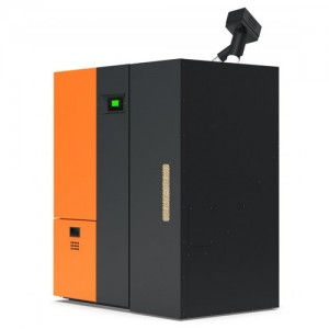 Poza Centrala termica pe peleti Atlas Pelletech 26 Pack 26 kW - buncar suplimentar