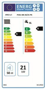 Poza Clasa energetica Centrala termica in condensare Arca Pixel MX 20/25 PN