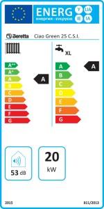 Poza Clasa energerica Centrala termica in condensare Beretta Ciao Green 25 CSI ErP