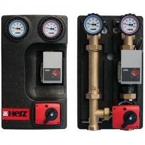 Poza Grup de amestec HERZ Pumpfix Mix DN32 1 1/4 Kvs=10 cu pompa Wilo