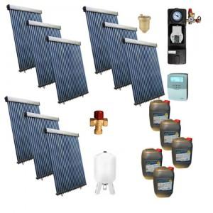 Poza Pachet solar Panosol C328 cu 180 tuburi vidate Heat Pipe fara boiler – 30 persoane