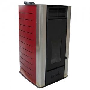 Poza Termosemineu centrala pe peleti Fornello Premium W22 Bordeaux 22 kW