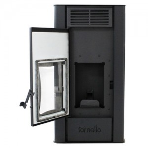 Poza Termosemineu centrala pe peleti Fornello Premium W22 Bordeaux 22 kW. Poza 59119