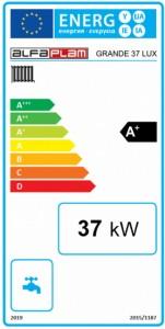 Poza Clasa energetica Centrala termica pe peleti ALFA PLAM GRANDE LUX R-C 37 kW