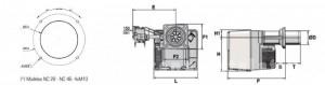 Poza Arzator gaz NC21 GX207 DN30/30 T2 - dimensiuni