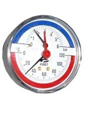 poza Termomanometru axial Fimet TIM Φ 80 6 bar 120 °C