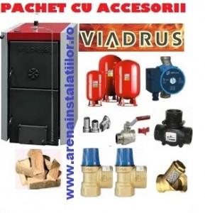 poza Pachet centrala termica pe lemne Viadrus 25 de kw cu accesorii